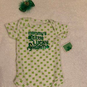 Mommy's Little Lucky Charm St. Patricks Day outfit